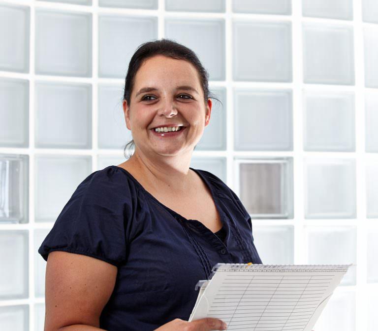 Aufnahme der Rezeption der Zahnarztpraxis in Oberusel